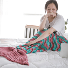 Factory Directly super soft flannel shark blankets mermaid tail of ISO9001 Standard