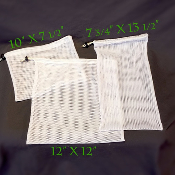 Reusable mesh polyester dirty laundry produce drawstring bags