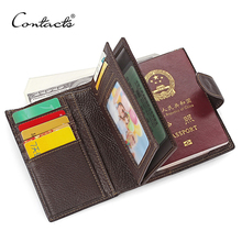 OEM Travel Heavy Duty Genuine Cowhide Leather Passport Wallet