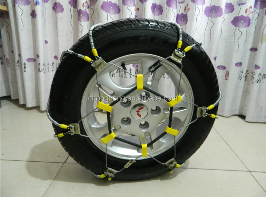 Cable snow chain for passenger car
