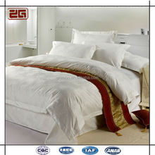 Hot Selling Jacquard Linen Hotel Used White Bed Sheet Factory in Guangzhou