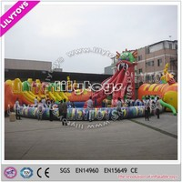 Atrractive dragon chatracter best tarpaulin used water park slides for sale