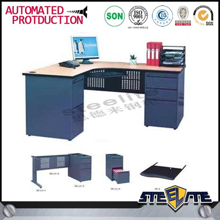 Knock down melamine office desk metal office table executive office table