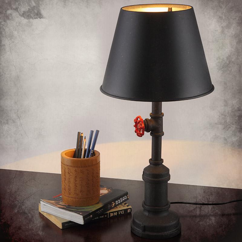 920 7 Vintage Table Lamp Decorative Antique Pipe Edison