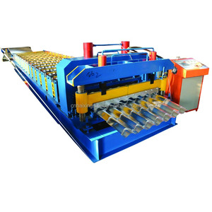 Wall/Soffit Panel with hydraulic drive and shear glazed making machine
