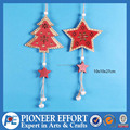 Wooden Christmas Tree and Star 3D Hanging Ornament with bell