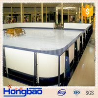 ce hockey rink arena fender,UV protection dasher board system,portable synthetic ice rink system