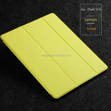 newest and latest Ultra slim stand pu leather case for ipad 2 3 4 with fashionable and bright color