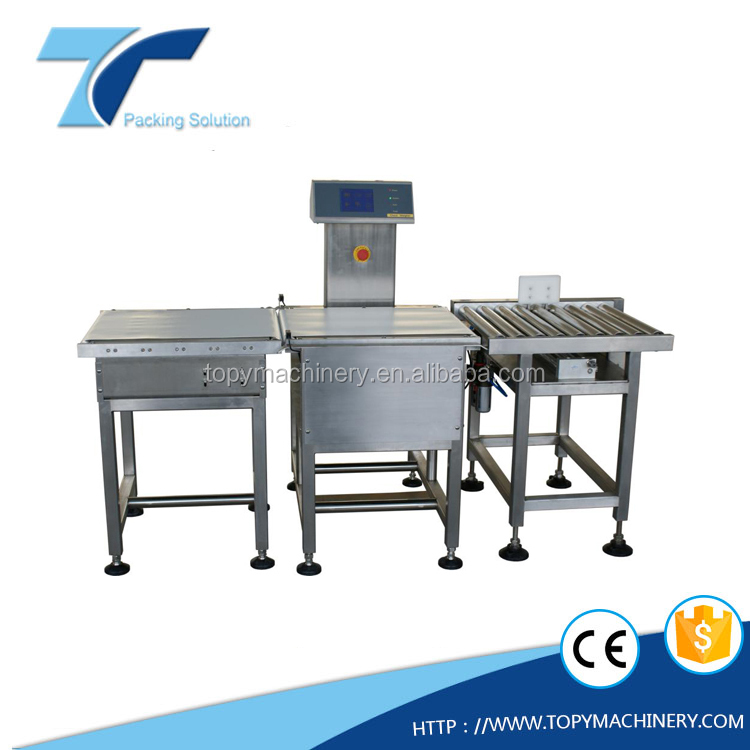 Automatic stainless Steel Check weigher, Weight checking and sorting machine, Check Scale for packaging system