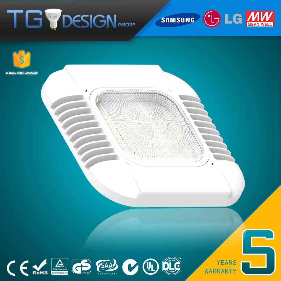 High Quality Chips and Meanwell Driver Recessed 100W 130W 150W LED Gas Station Canopy Lights Fixture Follow DLC4 UL