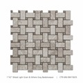 New Arrival Polished Basket Weave Wood light Grain Marble Stone