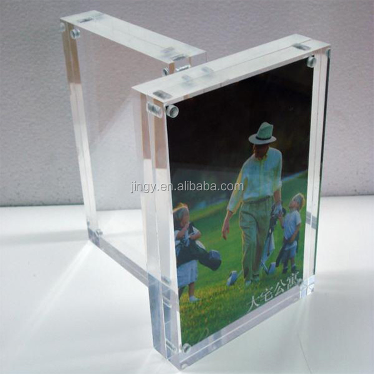 Square clear acrylic magnetic photo frame acrylic photo frame for picture acrylic fridge photo frame