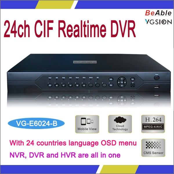 G711A Audio Compression Format 24 Channel Video Input CIF Realtime Hybrid DVR