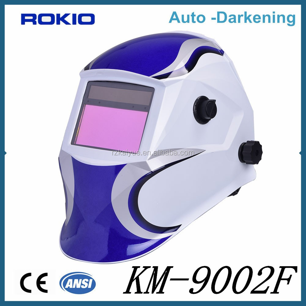 OEM big screen solar power auto darkening welding helmet/welding mask CE EN379 for ARC TIG MIG welding KM9000
