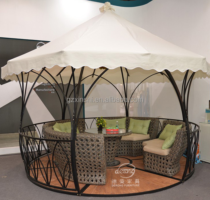 rattan garden pavilion outdoor furniture gazebo wholesale dealer price
