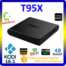 2016 best selling products T95X Amlogic S905X 1G / 2G RAM KODI 16.1 android 6.0 marshmallow tv box