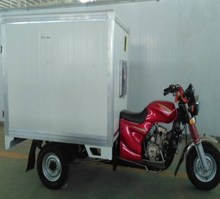 Chinese big space three wheel cargo motorcycle closed box