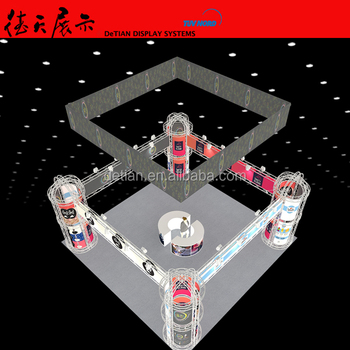 SHANGHAI exhibition booth portable custom trade show display 30x30 truss exhibition design