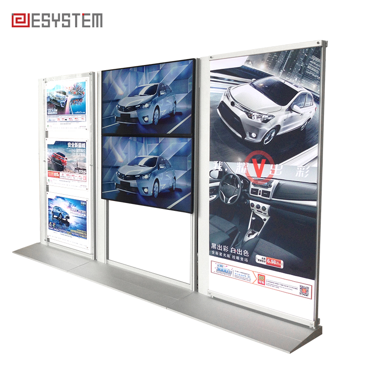 Custom exhibition booth portable video advertising display stand