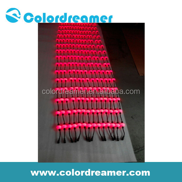Colordreamer led light up clothes a video light curtain or 3D visual madrix sliver finish housing available