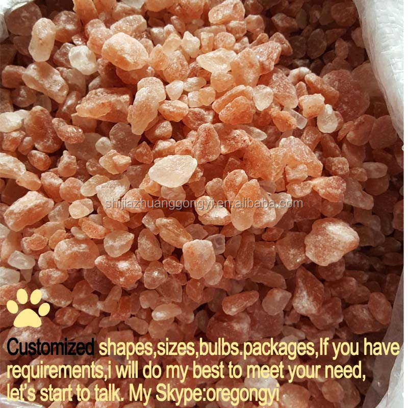 factory directly selling good quality with goood price himalayan rock salt pink granular 2-5mm