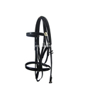 Full Black Pvc Bridle And Rein, Horse Racing Equipment Set