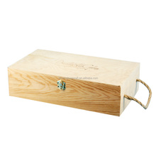 Single Wine Bottle Shipper Wood Wine Box With Sliding Wood Lid