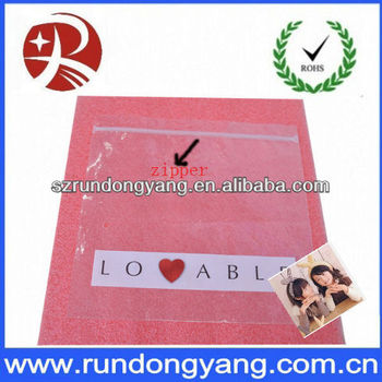 Professional Customized Recycled Plastic Zipper Bag