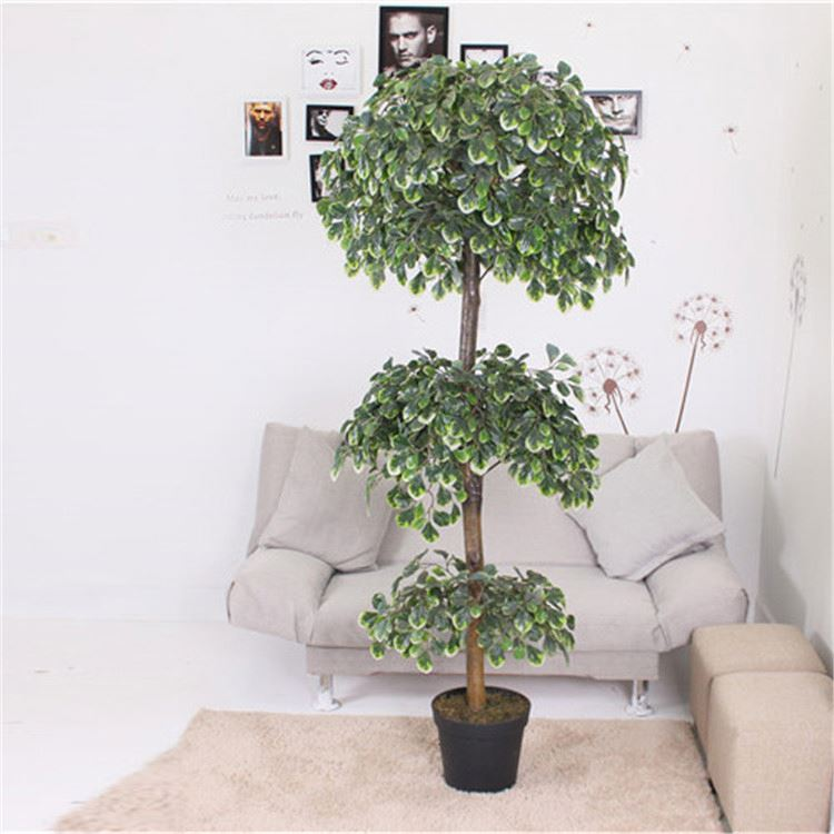 High end trendy style office use artificial ficus trees and flowers