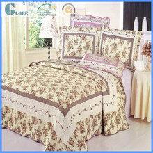 Hot sale queen size 100% cotton adult age printed patchwork quilt