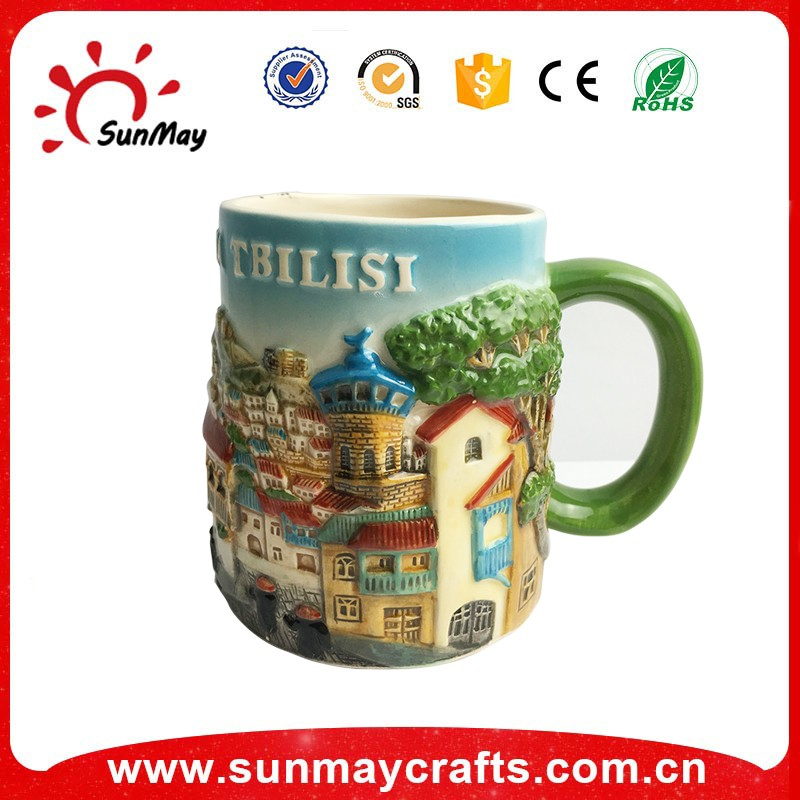 promotional white blank ceramic mug