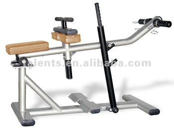 plate loaded standing calf raise machine