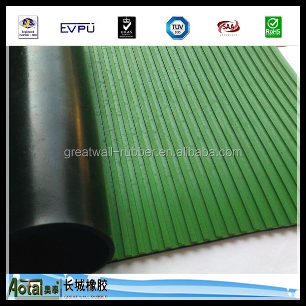 5mm to 8mm Thickness 1-50kv High voltage Electric Insulation Rubber Ribbbed Rlooring Mat