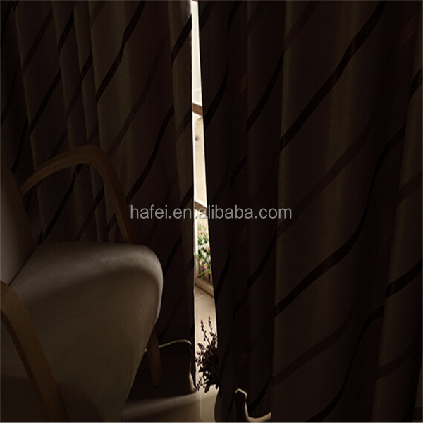Many designs100% Polyester jacquard hotel quality blackout curtains