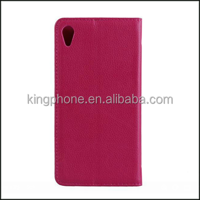 best selling high quality stand leather mobile phone case for Sony Z2
