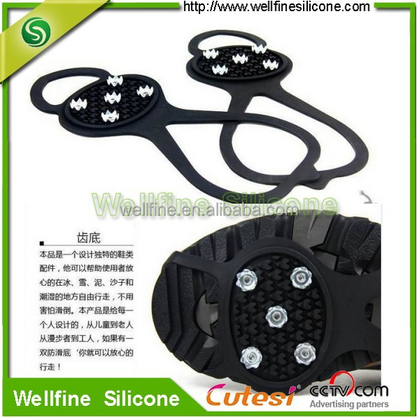 Winter Anti-slip rubber shoes cover magic spike ice gripper for footware protection