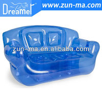 inflatable flocked sofa chair, inflatable sofa air bed, promotional inflatable sofa