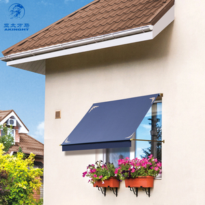 WM-C680 Swing arms window awning residential and commercial drop folding arm awning