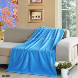 Travel, Car Used Cheapest Solid Color Thin Coral Fleece blanket China Factory
