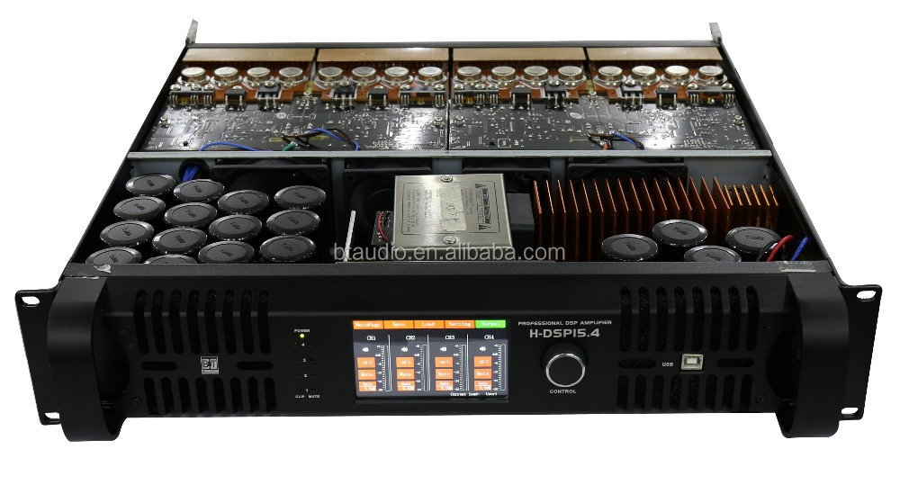 Hot-selling professional 1500W 8ohm 4channel Pro Audio amplifier, Line Array System amplifier, dsp power Amplifier