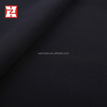 100% polyester blackout microfiber fabric plain dyed, jet black woven abaya fabric saudi