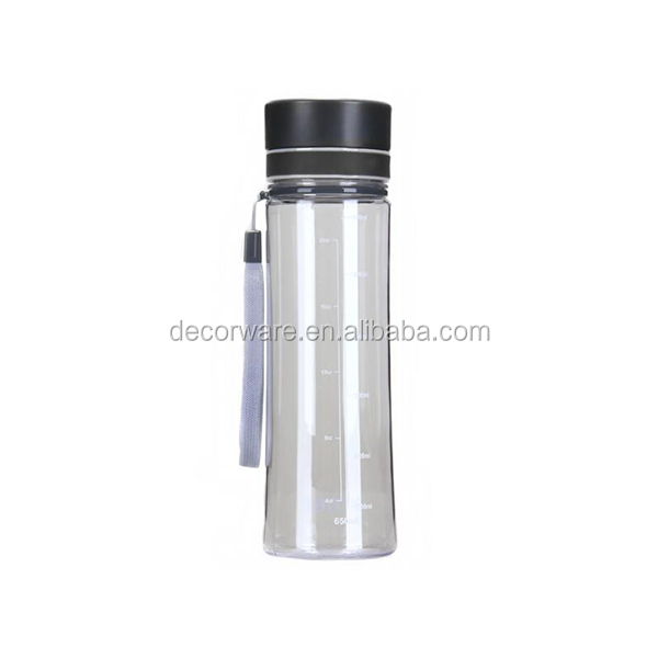 Plastic eco-friendly water bottle small mouth drinking bottle