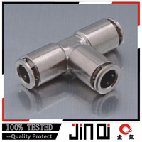 factor price tee pneumatic stainless steel pipe fitting tee fitting