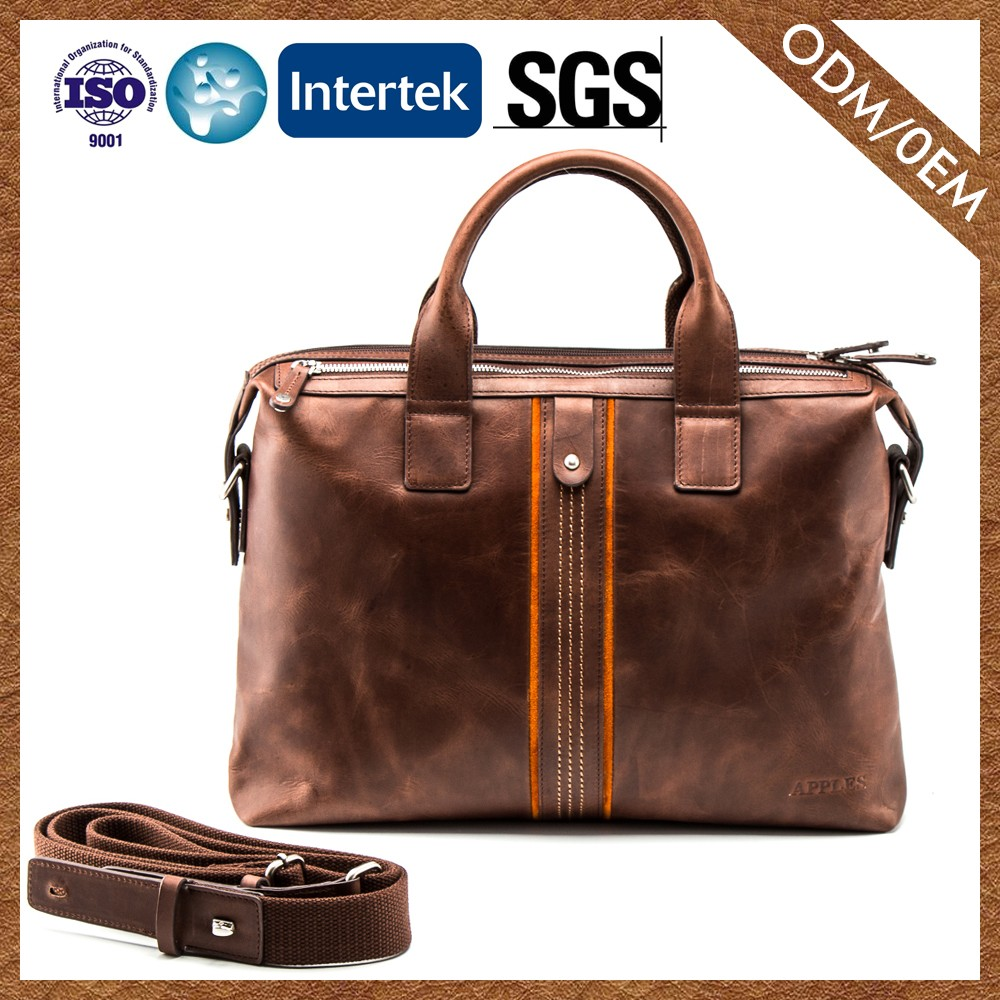 Factory Direct Sales Best Choice! Cowhide Man Briefcase Bag Leather Men'S Briefcase