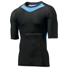 New design compression tights shirt for men,customized compression shirt,nylon and spandex running shirt