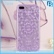 Full Diamond Rubber TPU Case For iPhone 7 7Plus, Slim Cellphone Case For iPhone 7Plus