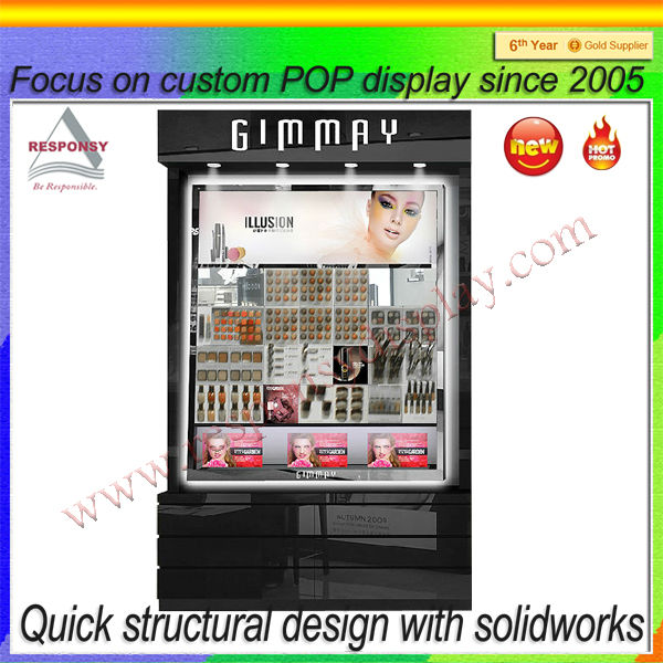 Interior shop design for clothes cosmetic shoe electronic decoration/ acrylic cosmetic display cabinet for sale