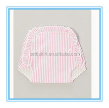 Infant Baby Stripe Diaper Cover Kids Pink Lace Bloomer