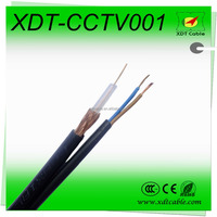 Made in china cctv camera 100m rg59+2power cable