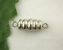 20Prs Silver Plated Screw Strong Magnetic Clasps 7*20mm